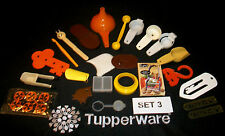 Tupperware toys~assorted mini gadgets SET #3  ~19 Tiny Treasures +4 other brand