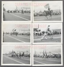Lot of 6 Vintage Photos Marching Band & Horses Bell Garden Parade Calif 743357