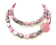 Bezaubernde Halskette aus Edelsteinen Rhodonite 84 cm lang