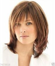 HESW17 charming short brown mix hair women wigs for straight women wig