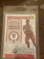 2019-20 Chronicles Jules Kounde RC Rookie Contenders Cracked Ice Ticket 12/23