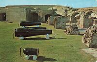 Postcard Civil War Guns Fort Sumter Charleston South Carolina