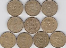 10  x CIRCULATED 1984 to 1990  $100  PESOS  MEXICAN COINS  LOOK