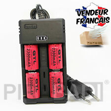 CHARGEUR RS-93 + 4 PILES ACCU RECHARGEABLE CR123A CR123 16340 3.7v 2300mAH