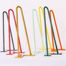 4x 36cm Orange Hairpin Legs Tischbeine Tischgestell Hairpins, alle Farben