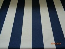 "NAVY & WHITE 3"" WIDE STRIPE FURNISHING FABRIC - NEW - ON THE ROLL - 58"" Wide"