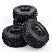 4Pcs 12mm Hex Tires Wheel Rim 04&02 For TRAXXAS SlASH RC 1:10 Short Course Truck
