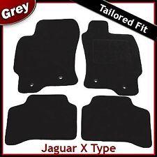 Jaguar X-Type 2.1 2.5 y 3.0 litros a la medida Alfombra Coche Tapetes 2001-2009 Gris