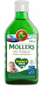 MOLLERS BABY Moller's My First Fish Oil - Omega3 A D3 400 IU 250ml, FREE P&P