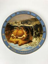 Danbury Mint Collector Plate Garfield Dear Diary Looked at New Condo Paper Bag