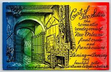 Court of Two Sisters Bourbon Street New Orleans Louisiana Chrome Postcard Unused