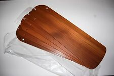 "HUNTER VINTAGE CEILING FAN ORIGINAL PARTS - NEW SET 5 SOLID TEAK BLADES 52"" FAN!"