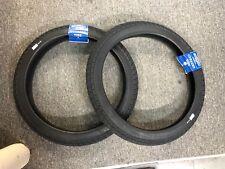 """PAIR OF SUNDAY BMX BIKE CURRENT TIRES BLACK 20 x 2.25"""" PRIMO CULT ECLAT"""