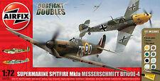 Airfix 1550135 Spitfire MkIa & Messerschmitt Bf109E 1:72 Flugzeug Modell Bausatz