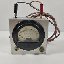 Vintage Weston Model 301 Milliamperes Dc Panel Meter Untested Steampunk