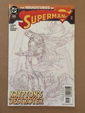 """ADVENTURES OF SUPERMAN #625 MICHAEL TURNER 2ND PRINTING B&W """"SKETCH"""" VARIANT NM"""