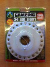 Portatile portatile Torcia Campeggio Camper Luce 24 LED con clip da appendere