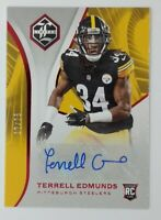 2018 Panini Limited Ruby Spotlight Terrell Edmunds Rookie RC #203, Auto, #'d/25