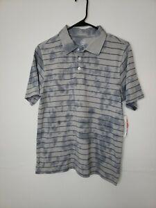 New Wonder Nation Boys Shirt XL 14 16 Polo Striped Gray Tie Dye School Clothes