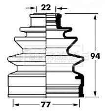 Borg & Beck Driveshaft Bellow CV Joint Boot Kit BCB6046 - 5 YEAR WARRANTY