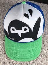 Slide City Urban Mesh Trucker Hat Penguin Baseball Hat Snapback Foam Blue Green