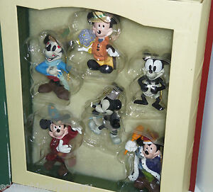 Disney Mickey Mouse Ornaments Thourgh the Years Storybook Collection Holiday