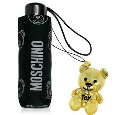 MOSCHINO compact super mini Umbrella for bag black with toy 8043