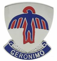 Army 501st Geronimo Parachute Regiment 1 1/16 inch Hat Lapel Pin H15000D176k