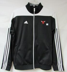 Adidas Chicago Bulls Mens Size Medium Full Zip Fleece Lined Track Jacket A1 1416