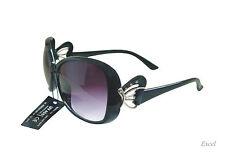 Women Sunglasses Fashion Black Frame w/ Purple Gr Lenses 2256GR