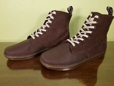 Dr. Martens Alfie 8-Eye Men's Boot 13M Canvas/Suede Brown/Bitter Chocloate NWOB!