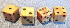 Lot of 4 original Civil War period small bone dice
