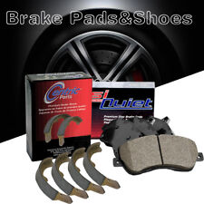 Front + Rear Posi-Quiet Ceramic Brake Pads + Shoes 2Set For 2012 Civic