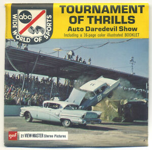ABC Wide World of Sports Tournament of Thrills View-Master Packet B-947 Exc Cond