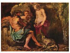 vintage card art RUBENS 🎨 GOD OF SHELDT RIVER, CYBELE AND GODDES OF ANTWERP
