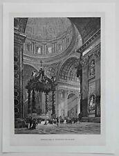 Rom, Roma - Vatikan. - Petersdom - Dekorativer Holzschnitt / Stich 1885