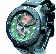 BALDIERI, UNIQUE SKULL DIAL ON CARBON MAGNUM M-48, AUTOMATIC, 48MM, 20ATM