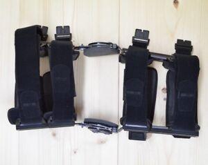 Donjoy Knee Brace Adjustable Range Bent Straight Extension Flexion Medical Black