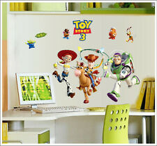 Toy Story 3 Woody Buzz Lightyear Nursery /Boys Room Wall Stickers Decor Decals