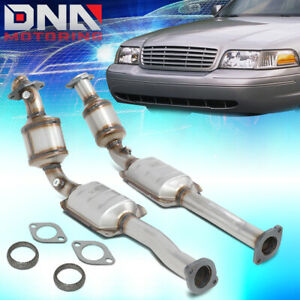 FOR 2002-2011 CROWN VICTORIA GRAND MARQUIS PAIR CATALYTIC CONVERTER EXHAUST PIPE
