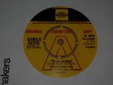 "Camilo Sesto ""To Be A Man"" Pye International Demo MINT 45"