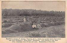 c.1910 Joshua Durfee Hayfield Tiverton RI post card fertilizer advertising