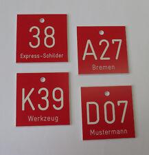 30 St. PVC Zahlenmarken Ziffernschilder Boxenschilder Regalschilder 40mm x 40mm