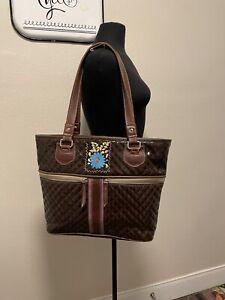 Consuela Quilted Leather Tote Shoulder Handbag