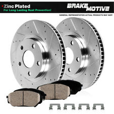 Front Drilled Slotted Brake Rotors & Ceramic Pads For 2018 2019 Honda Accord