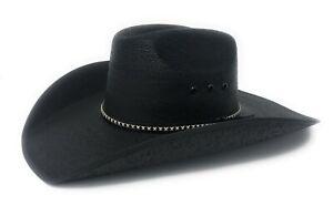 """Summit Hats Black """"Asphalt"""" Palm Straw Cowboy Hat in Sz: S, M or LG"""