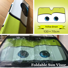 Cartoon Foldable Shade Cover Car UV Protection Front Windshield Sun Visor Green