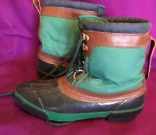 Chills Women Thermo Lite Green Rubber Warm Liner Winter Boots 9
