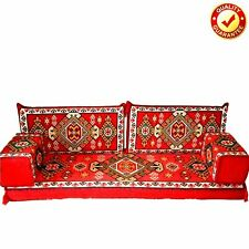 Arabic Sofa Oriental Turkish Set Kilim Floor Corner Cushions Red Only Covers