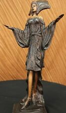 Handcrafted bronze sculpture SALE Art France Erotic Model Girl Dancer Woman